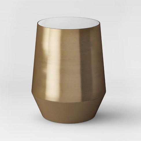 Mawr Metal Accent Table White Marble/Gold - Project 62™ - image 1 of 6