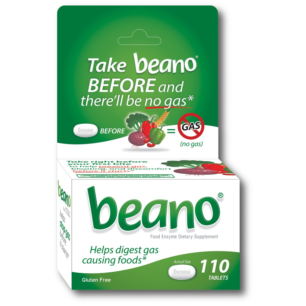 beano Food Enzyme Dietary Supplement Tablets - 110ct
