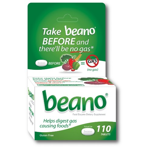 beano Food Enzyme Dietary Supplement Tablets - 110ct - image 1 of 2