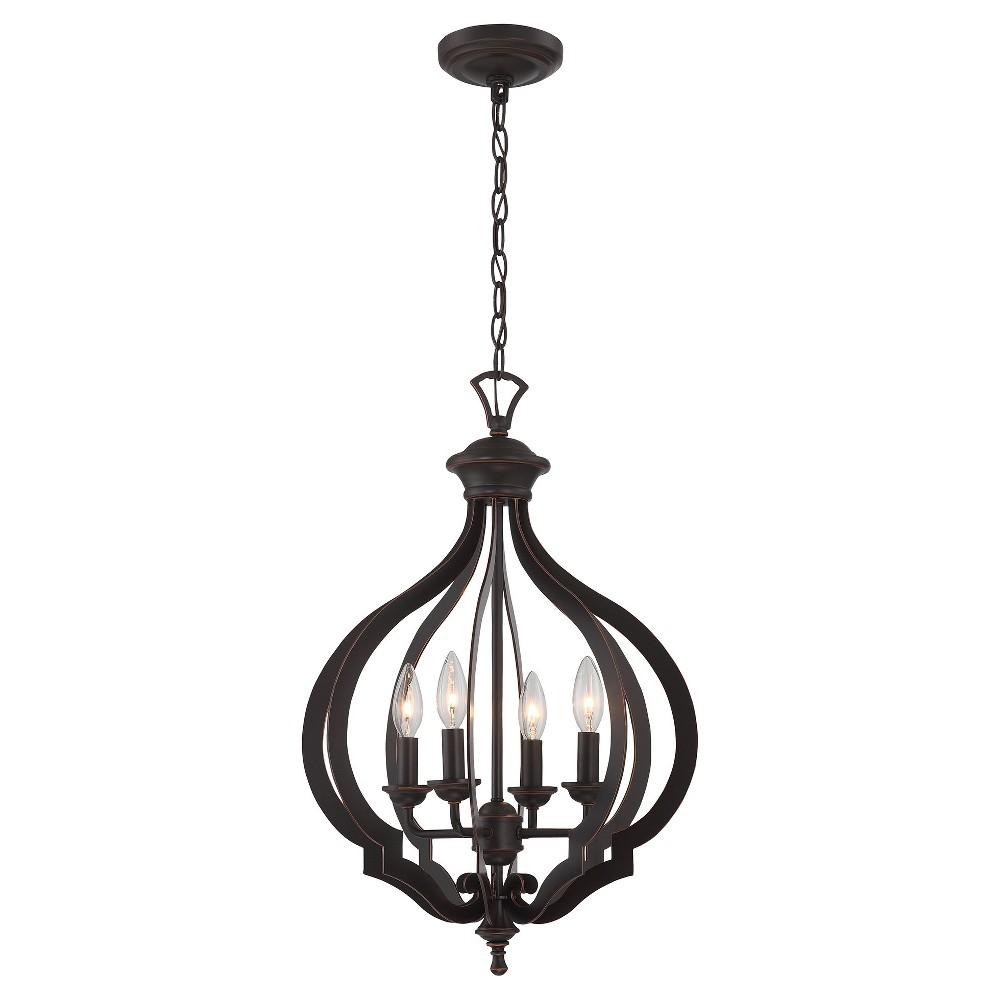 Ceiling Lights Orlena Chandelier - Dark Bronze - Lite Source, Brown