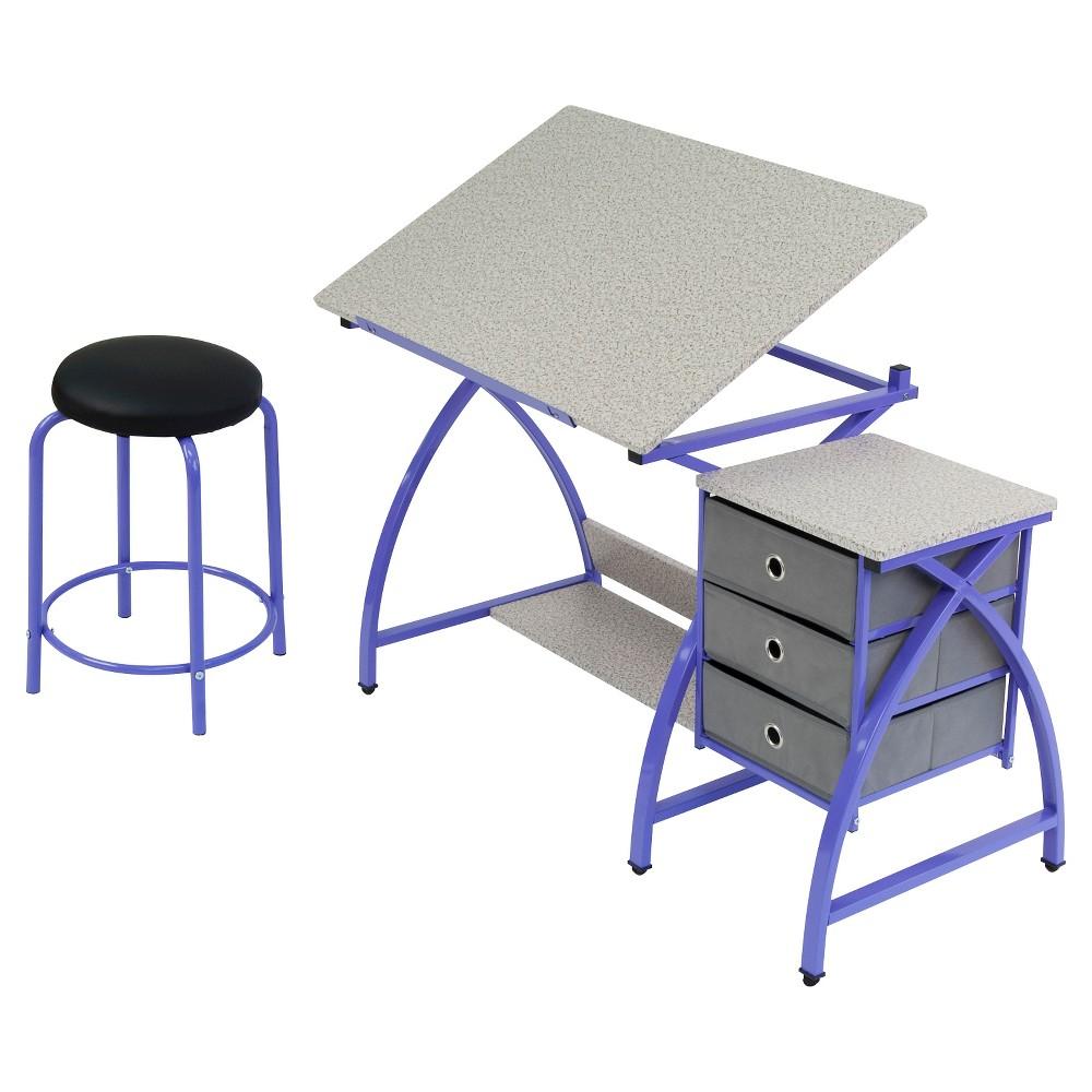 Image of 2pc Canvas & Color Adjustable Top Center Purple/Spatter Gray - Studio Designs