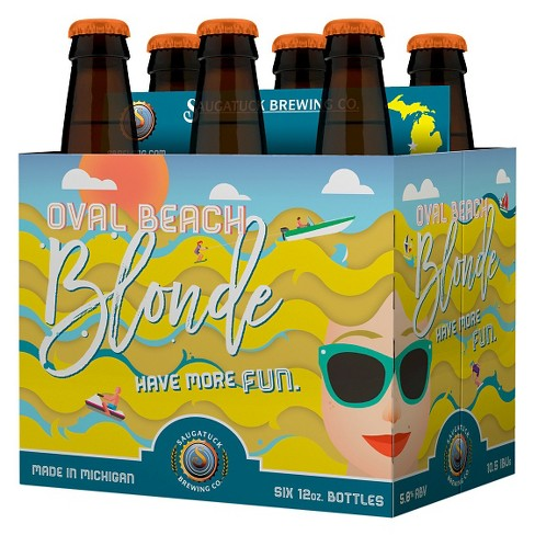 Saugatuck® Oval Beach Blonde - 6pk / 12oz Bottles - image 1 of 1