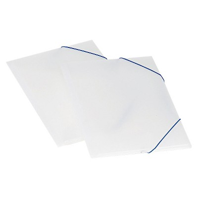 Pendaflex Twin-File Folders Pocket Poly Wallet, Poly, Letter, Blue/Ice