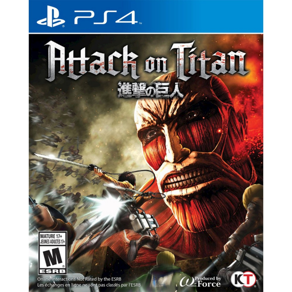 Attack on Titan PlayStation 4 The game works for PlayStation 4 consoles. The adventure video game is recommended for ages 17 and up.