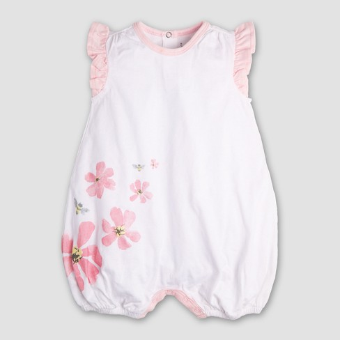 a13525786c5 Burt s Bees Baby Girls  2pk Organic Cotton Flower Bubble Dress - Heather  Gray. Shop all Burt s Bees Baby