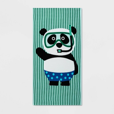 Panda Beach Towel Blue - Sun Squad™