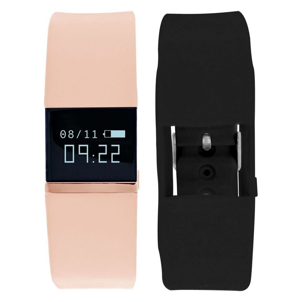 iFitness Pulse Activity Tracker - Black/Blush Designed for today's connected life, the iFITNESS Pulse Fitness Activity Tracker has you covered for every situation. Keep track of your fitness goals with the built in Heart Rate Monitor, Steps, Calories, Distance and Sleep trackers, while the Camera remote makes your leisure time more enjoyable. Notifications, and Sedentary Reminder have you covered while at work. Color: Black.