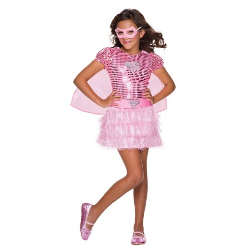 DC Comics Girls' Pink Supergirl Tutu Dress Halloween Costume - Rubie's - image 1 of 1