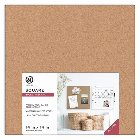 "Ubrands Cork Board Unframed Tile - 14"" x 14"" - image 1 of 4"