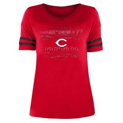 MLB Cincinnati Reds Women's Dugout Poly Rayon T-Shirt