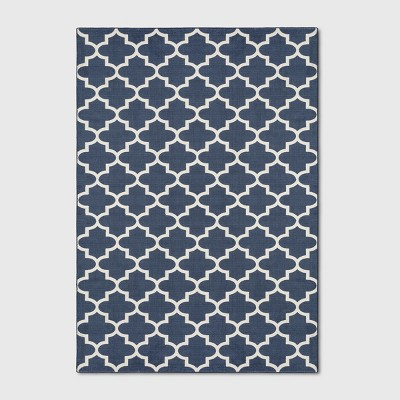 7'X10' Quatrefoil Design Tufted Area Rugs Navy Blue - Threshold™
