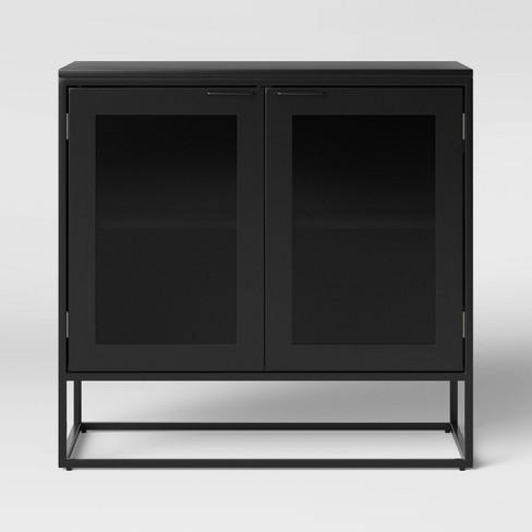Glasgow Metal 2 Door Cabinet Black