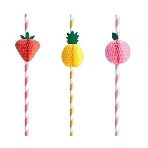 10ct Summer Fruit Honeycomb Straws - Spritz™ - image 1 of 1