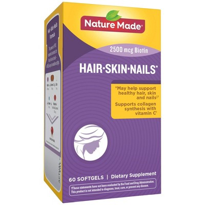 Vitamins & Supplements: Nature Made Hair Skin Nails