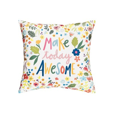 C&F Home Make Today Awesome Indoor/Outdoor Decorative Throw Pillow