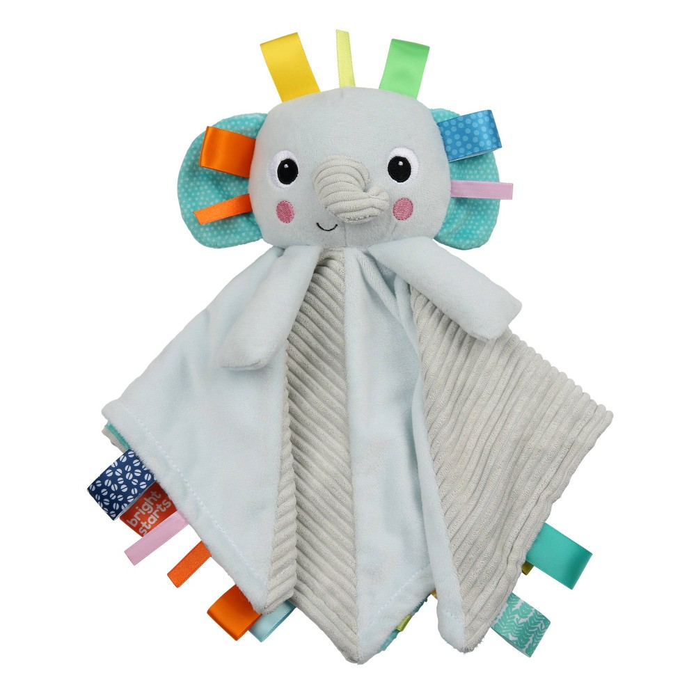 Image of Bright Starts Cuddle 'n Tags 2-sided Lovie - Elephant