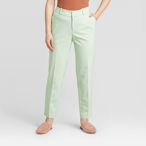Women's Mid-Rise Slim Ankle Pants - A New Day™ Mint 18 - image 1 of 3