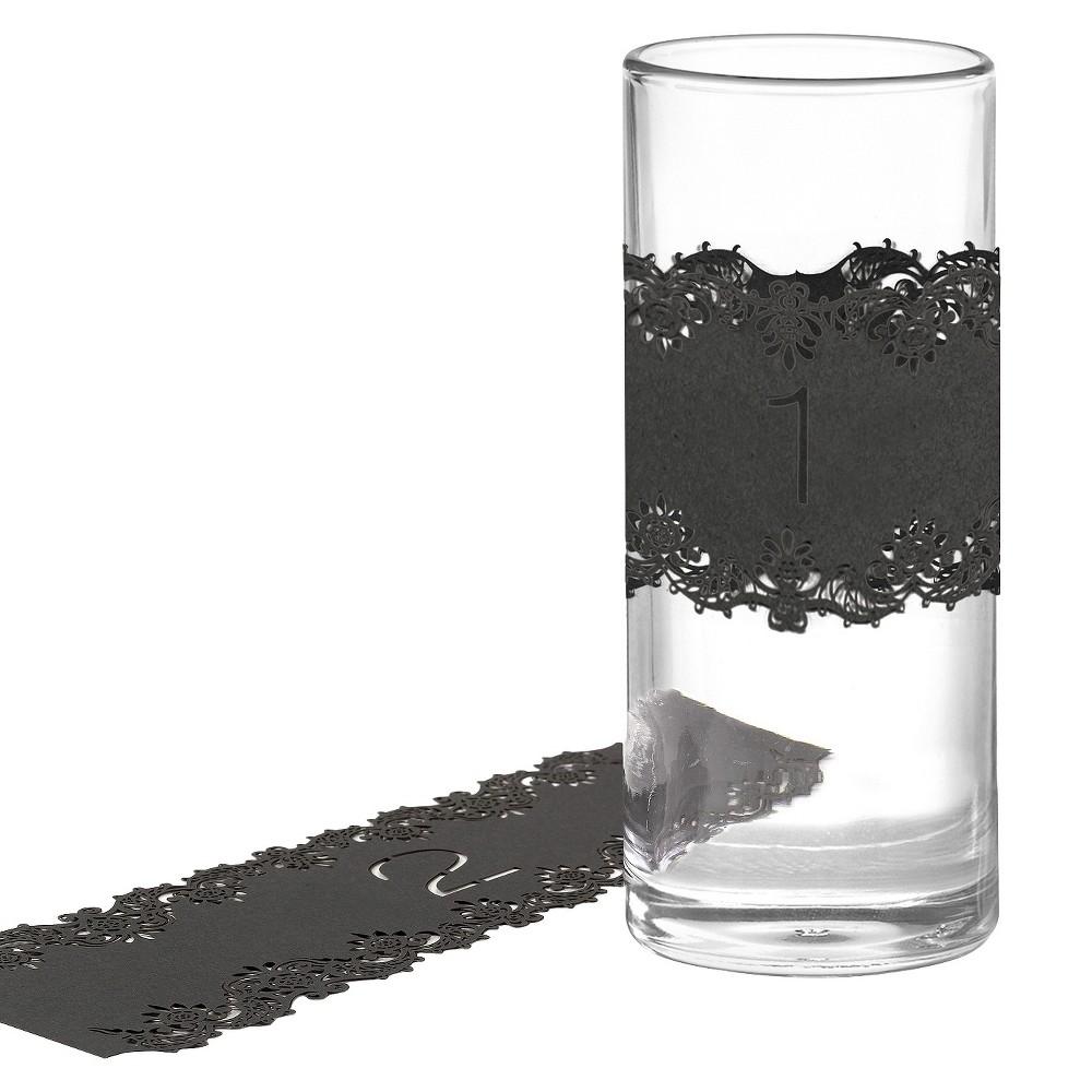 Laser Cut Table Number Wraps (1-10) - Black