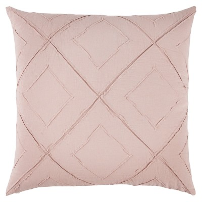 """20""""x20"""" Oversize Deconstructed Diamond Square Throw Pillow Light Pink - Rizzy Home"""