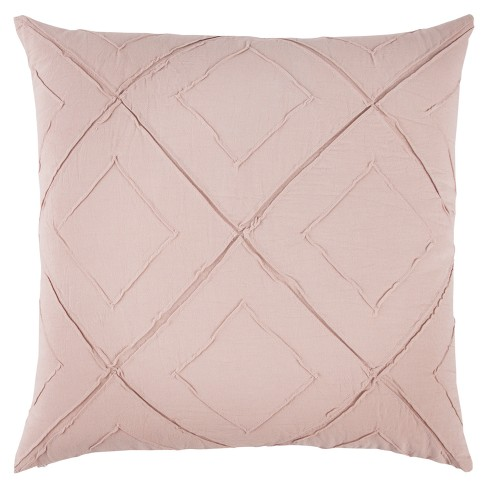"""20""""x20"""" Oversize Deconstructed Diamond Square Throw Pillow Light Pink - Rizzy Home - image 1 of 3"""