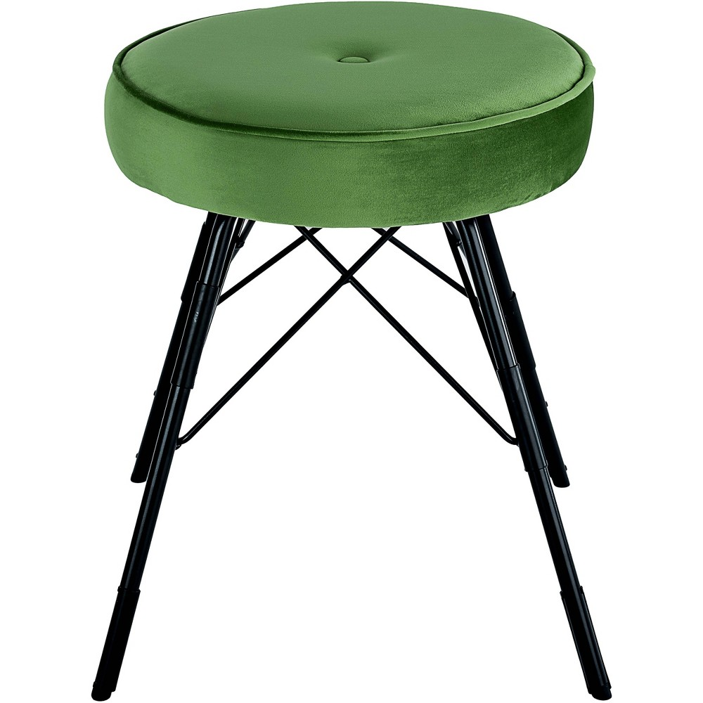 Image of 2pc Avery Stool Set Dark Green - Adore Décor