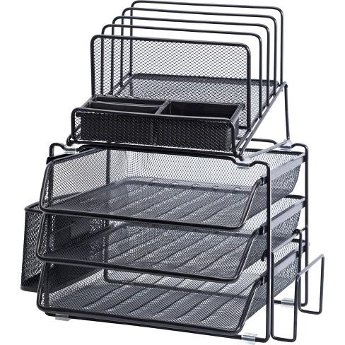 Lorell Divided 4-tier Desktop Organizer - Black - image 1 of 1