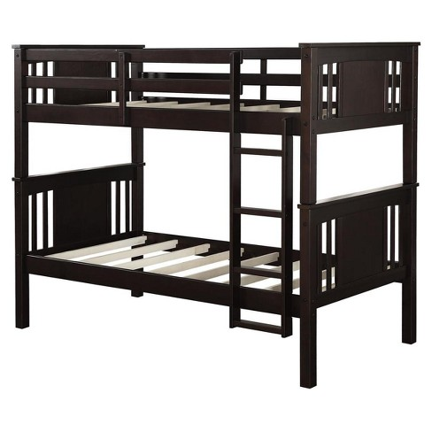 Dylan Twin Over Twin Wood Bunk Bed Dorel Living Target