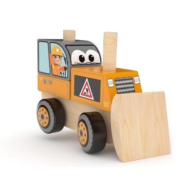 J'adore Bulldozer Wooden Stacking Toy