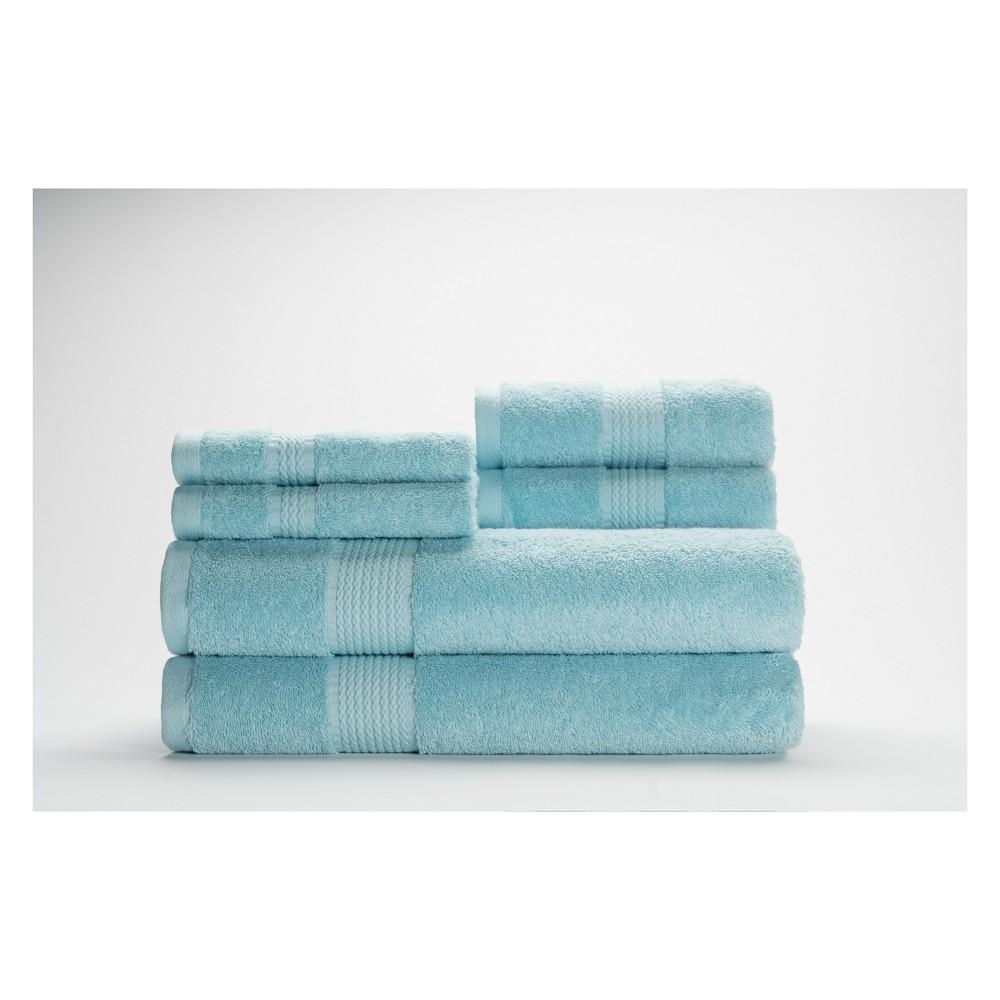 Image of 6pc Cromwell Breeze Blue Bath Towels Sets - Caro Home