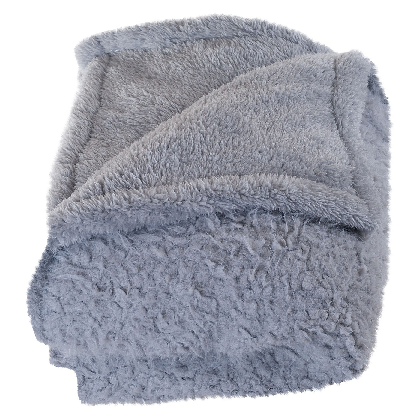 Yorkshire Home Solid Fleece Sherpa Backed Throw - image 1 of 4