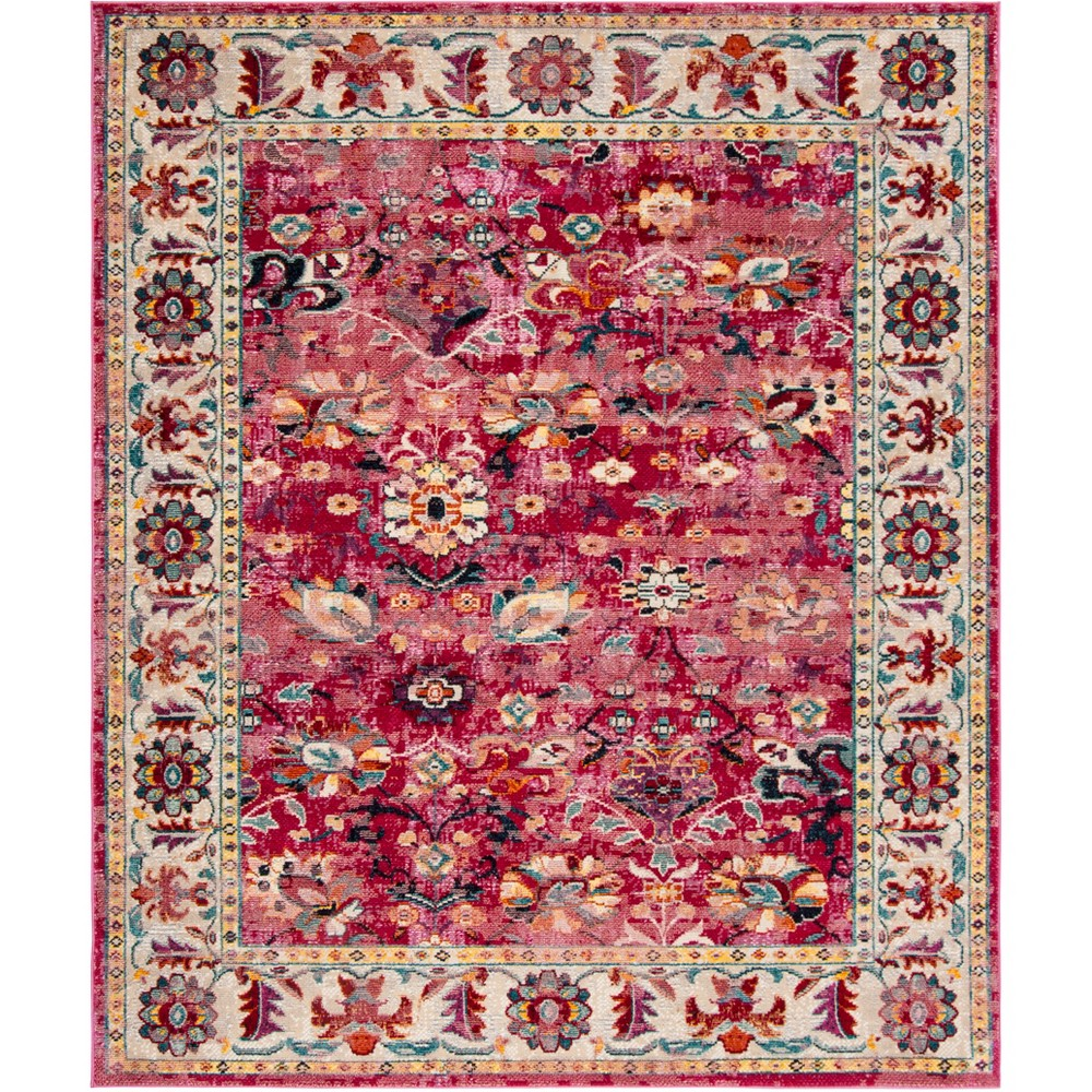 9'X12' Floral Loomed Area Rug Violet/Gray (Purple/Gray) - Safavieh