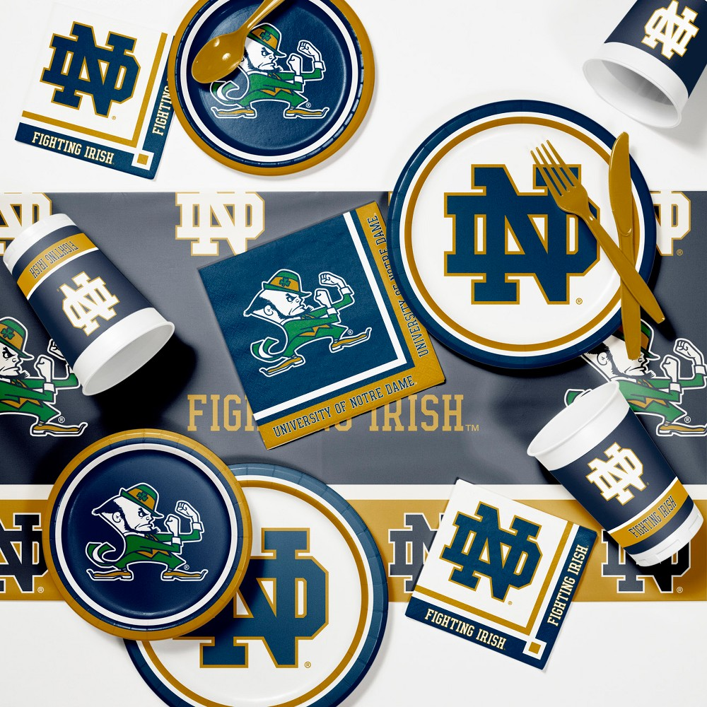 Notre Dame Fighting Irish Party Supplies Kit Disposable Plates Blue