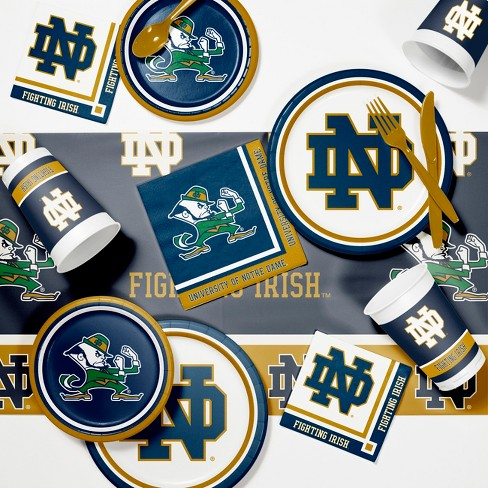 Notre Dame Fighting Irish Party Supplies Kit Disposable Plates Blue - image 1 of 4