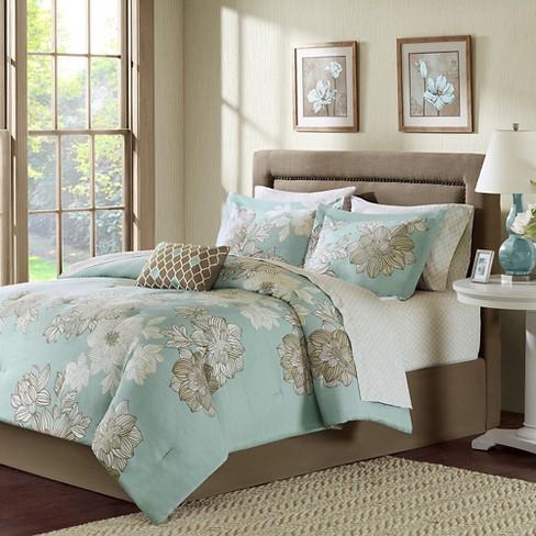 Cornell 9 Piece Comforter Set Blue California King Target