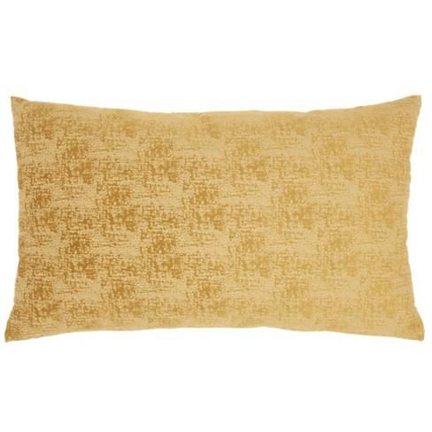 "14""x24"" Life Styles Erased Velvet Throw Pillow Mustard - Mina Victory - image 1 of 4"