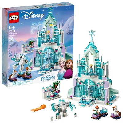 LEGO Disney Princess Elsa's Magical Ice Palace Toy Castle Building Kit with Mini Dolls 43172