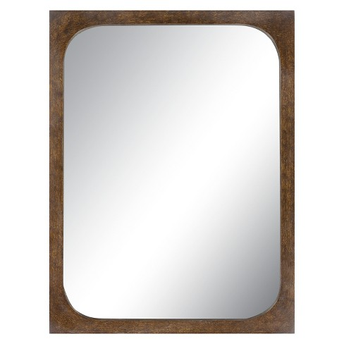 Rectangle Bosby Decorative Wall Mirror Tan - Surya - image 1 of 2