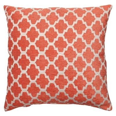 Orange Throw Pillow Perfect Keaton Santa Fe Floor Throw Pillow (16.5 x16.5 )- Pillow Perfect