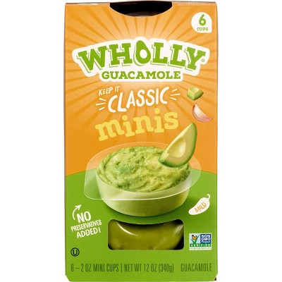Wholly Guacamole Classic Mini Bowls - 2oz/6ct