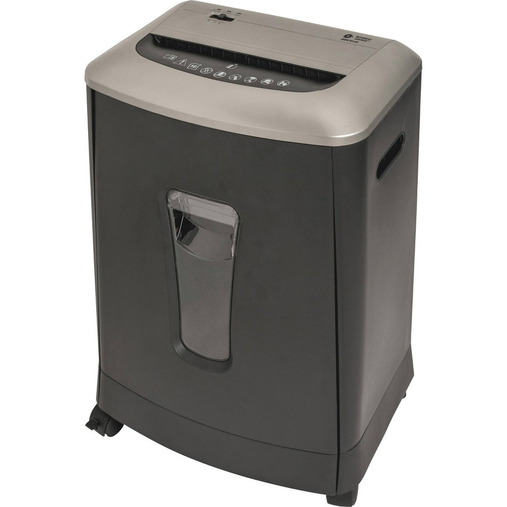 Image of Business Source 6 gallon Bin Cross-cut Shredder, Black