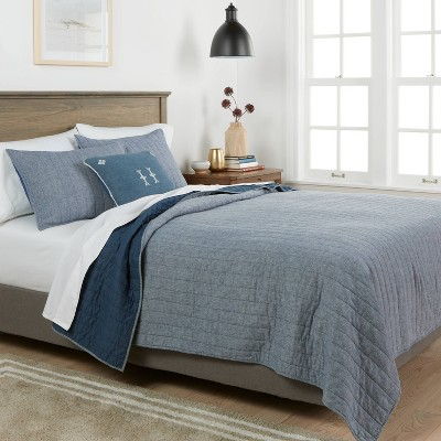 Chambray Linen Blend Quilt - Threshold™ : Target