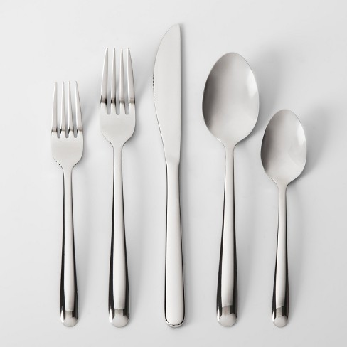 What Is Stainless Steel Made Of >> Stainless Steel 20pc Silverware Set Made By Design