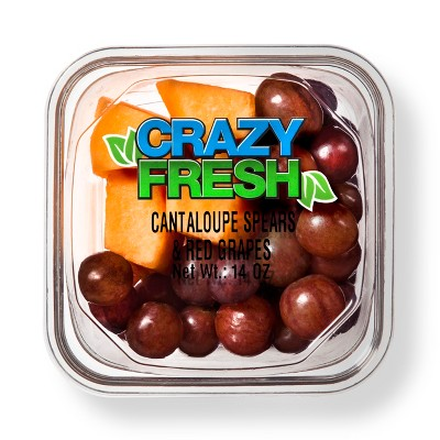 Cantaloupe Spears & Red Grapes - 14oz