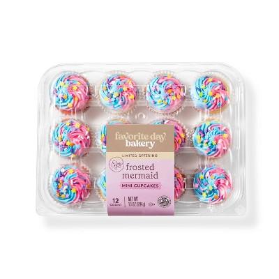 Mermaid Mini Cupcakes - 12ct - Favorite Day™