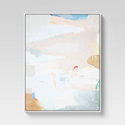 """24"""" x 30"""" Pastels Abstract Framed Wall Art - Project 62™"""