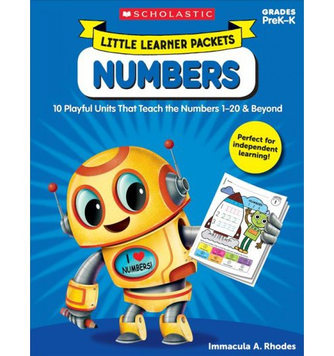 Numbers Grades PreK-K : 10 Playful Units That Teach the Numbers 1–20 & Beyond (Paperback) - image 1 of 1