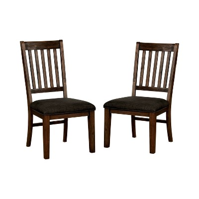 Set of 2 WinstonDining Chairs Red Walnut - HOMES: Inside + Out