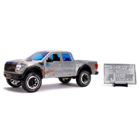 Jada Toys 20th Anniversary Just Trucks 2011 Ford F-150 SVT Raptor Die-Cast Vehicle with Mosaic Die-Cast Tile 1:24 Scale Brushed Raw Metal - image 1 of 4