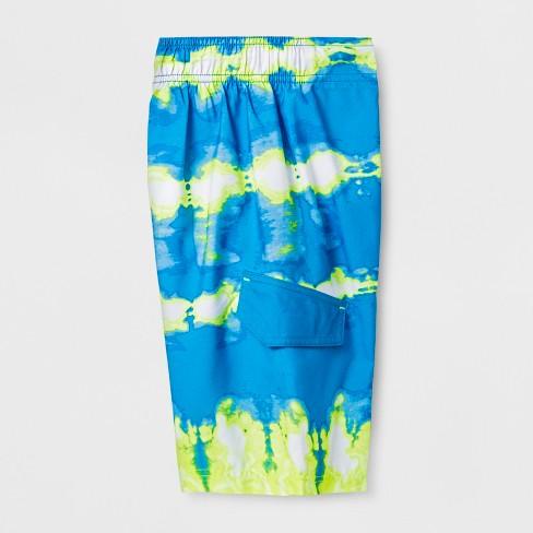 9ff4e4473e Boys' Twist Dye Yellow Dash Swim Trunks - Cat & Jack™ Blue. Shop all Cat &  Jack