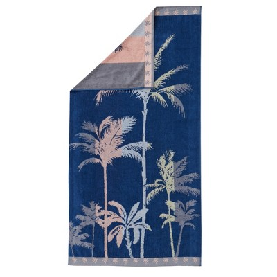 Great Bay Home Oversized Plush Jacquard Beach Towel